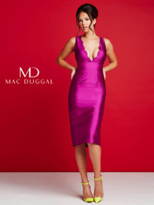 Magenta Mac Duggal Short Dress