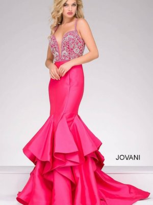 Jovani Pink Pageant Gown