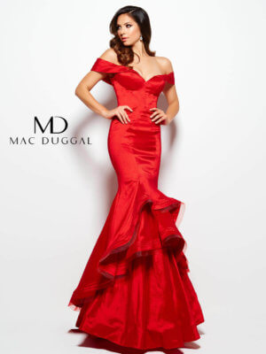 Mac Duggal Red Pageant Gown