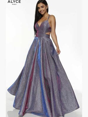 Alyce Paris Prom Dress, Style 60567 in Blueberry