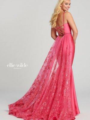 Ellie Wilde Prom Dress STYLE ew120009 in hot pink
