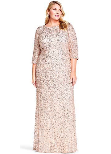 Adrianna Papell Plus Size Bridesmaid Dress - Style #09191997