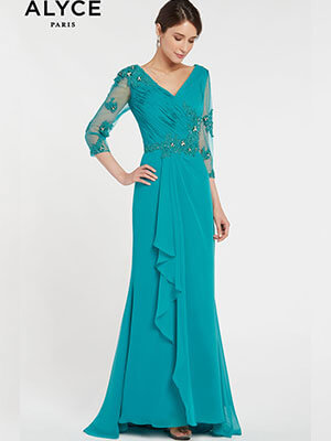 Alyce Paris Mother of the Bride Dresses Style #29681_Teal